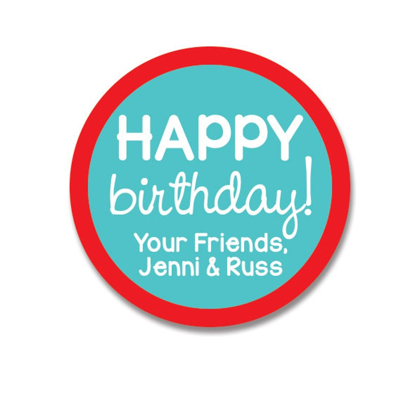 Birthday Favor Stickers Personalized Gift Labels