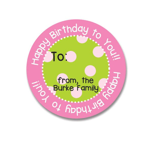 Happy Birthday Stickers Personalized Gift
