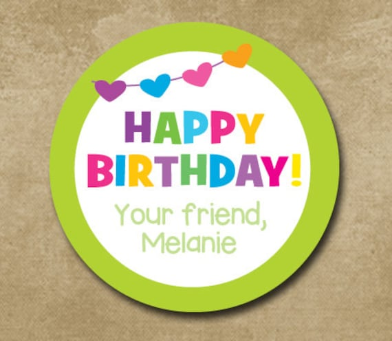 personalized birthday stickers birthday banners custom etsy