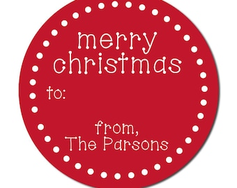 Personalized Christmas Stickers | To and From Holiday Labels | Holiday Gift Stickers for Presents