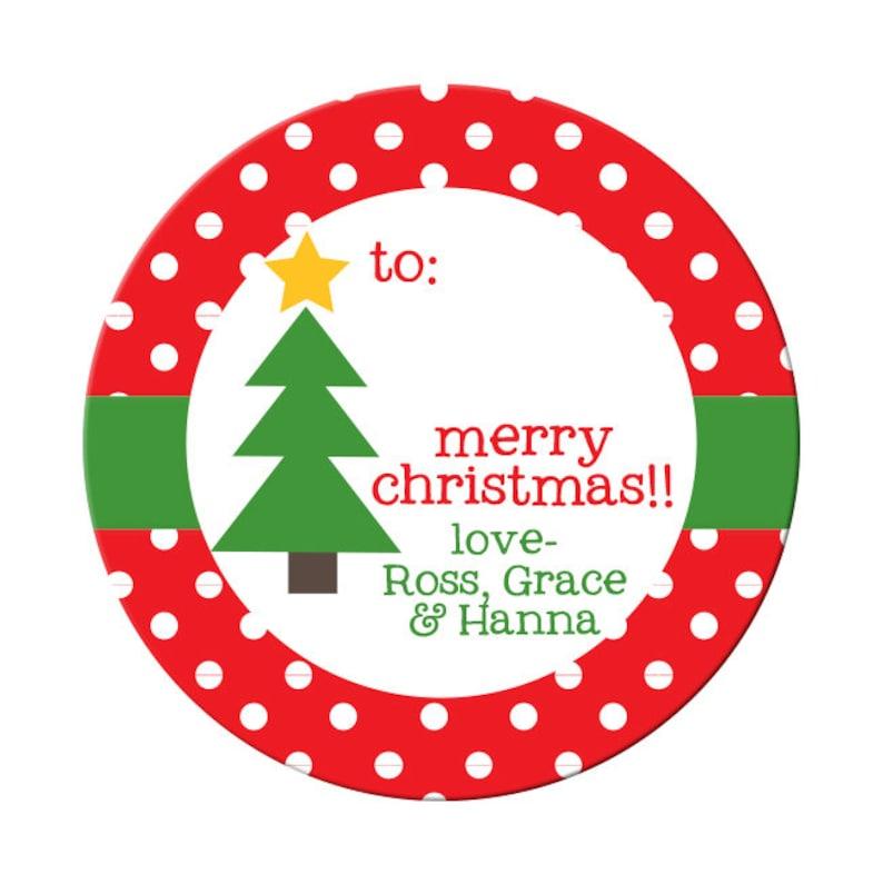 77647638d8dd Adesivo di regalo di Natale personalizzato contrassegni di