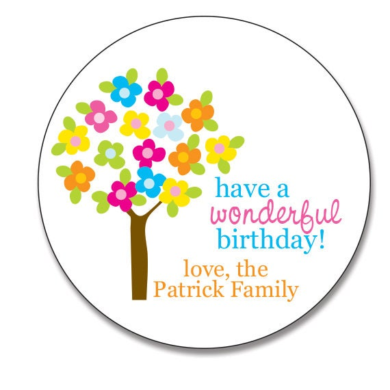 Personalized Gift Stickers Birthday