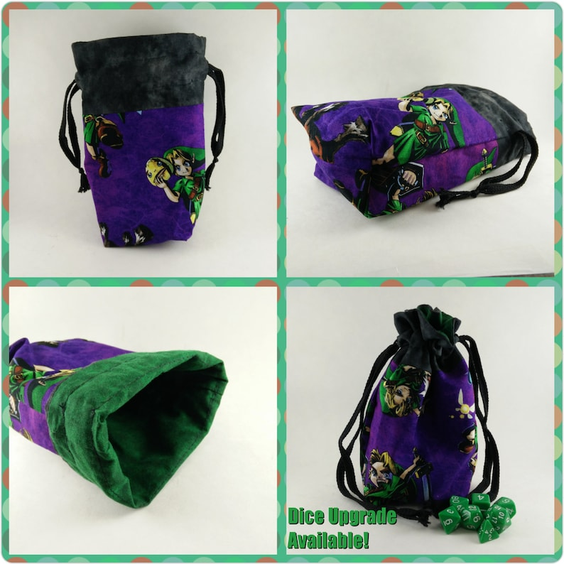 Legend of Zelda Lined Dice Bag image 0
