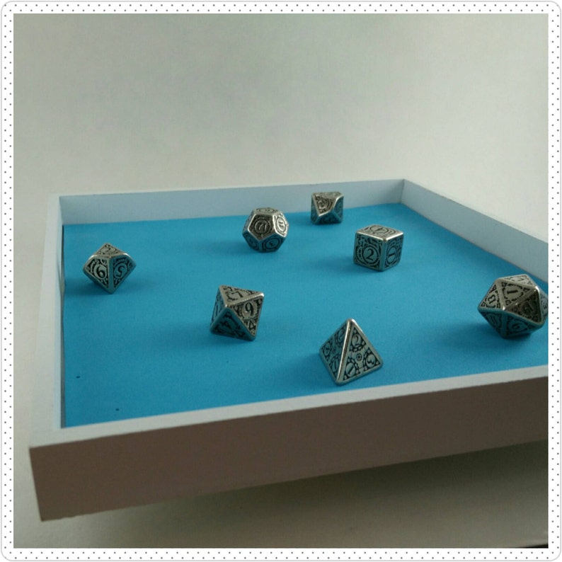 Square Wooden Dice or Jewelry Tray with Color Options image 0