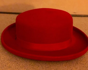 2ee7d668a54ac Red Hat Bollman Doeskin Felt Hat - Vintage aprox 60's - Made in USA - wool  hat