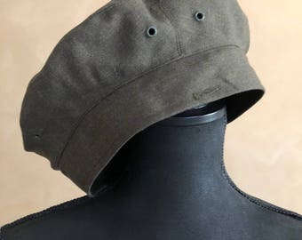 fefa2346642 Vintage Army Green Tam Beret - Service Cap - made in Italy - Wool - Size 7