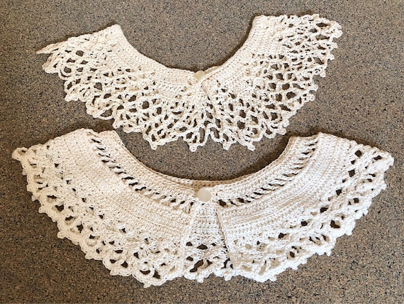Pair of Hand Knit Collars