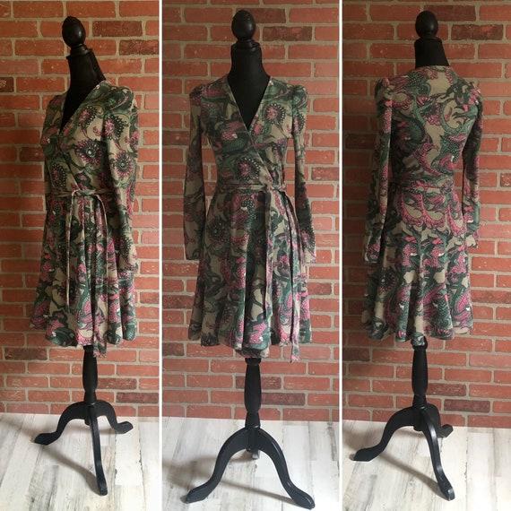 Vintage Wrap Style Dress ~ Bohemian Style