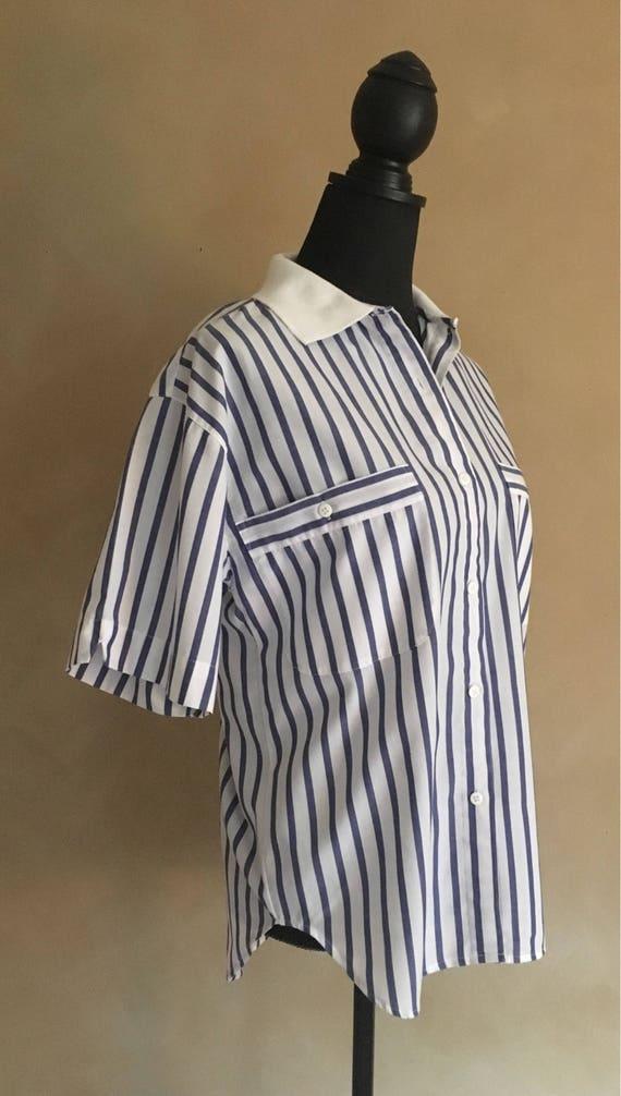 Vintage 80's Striped Blouse - Reed Hunter