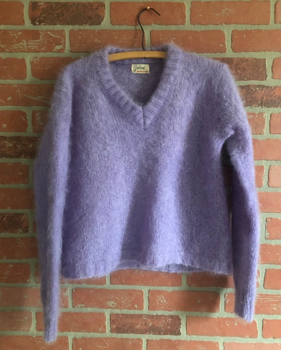 Vintage 50's Mohair Sweater in Lavender
