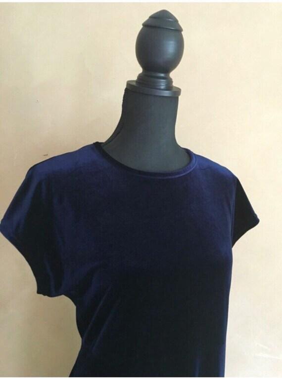 Blue Velvet Maxi Dress