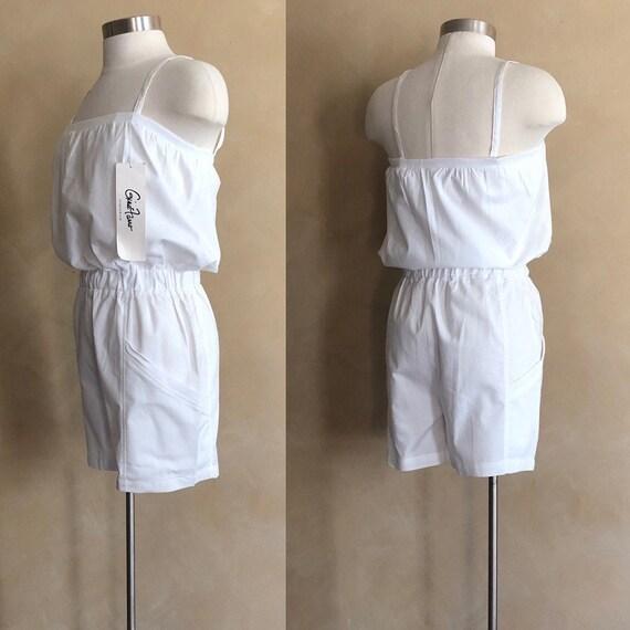 70's White Romper Shorts 100% cotton - never worn