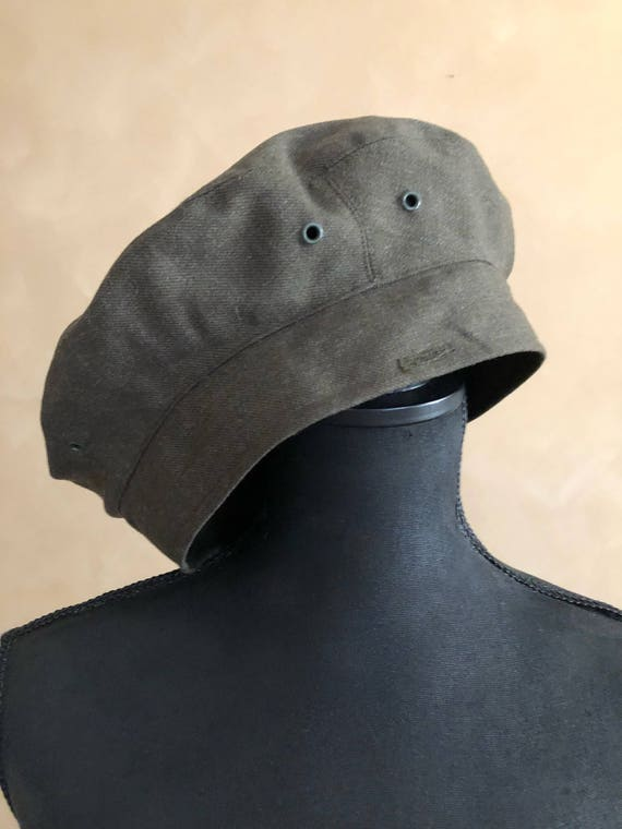Vintage Army Green Milatary Style Beret - Service Cap