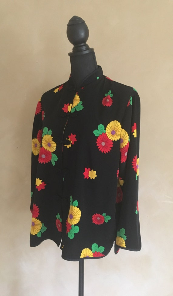 Vintage Floral Blouse - Loon Feng