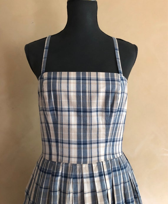 Vintage Plaid Dress  ~ Brooks Brothers Vintage  80's