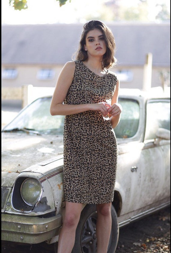 Leopard Print Dress - Vintage 80's - lightweight material