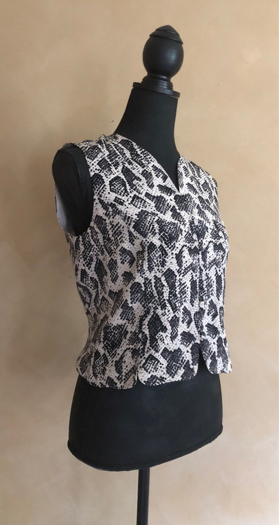 Silk Snakeskin Print Top