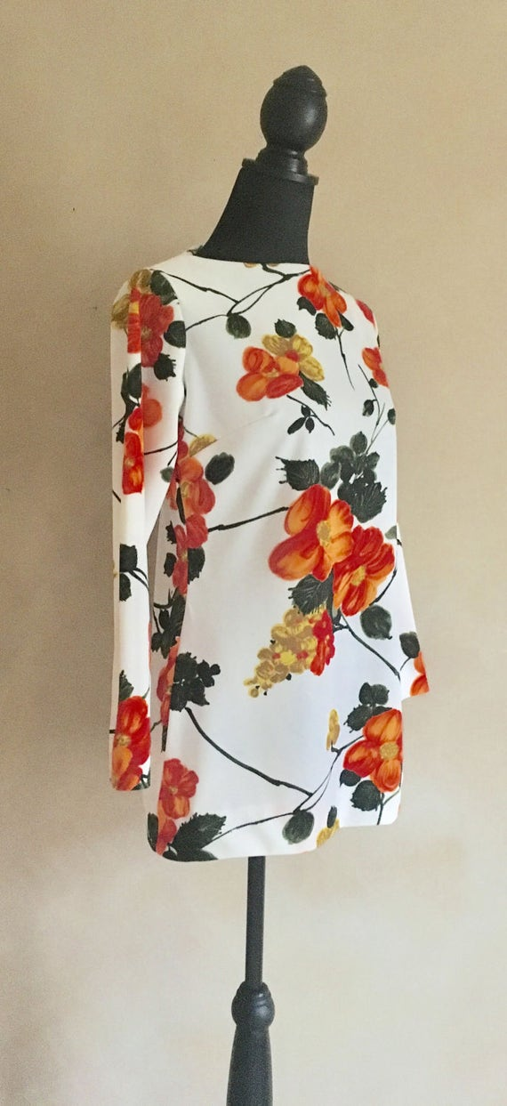 Vintage 60's Blouse Tropical Floral Print - Flair of Miami