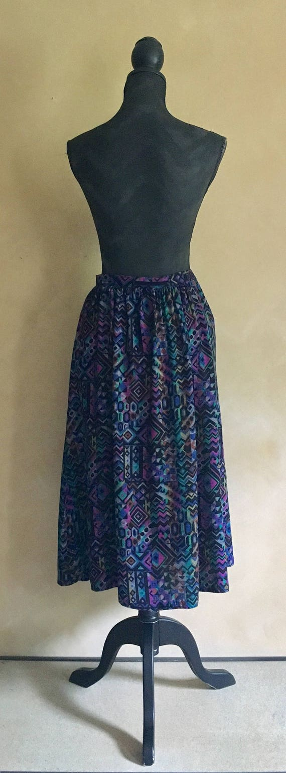 Vintage Classic 80's Skirt Bright Print
