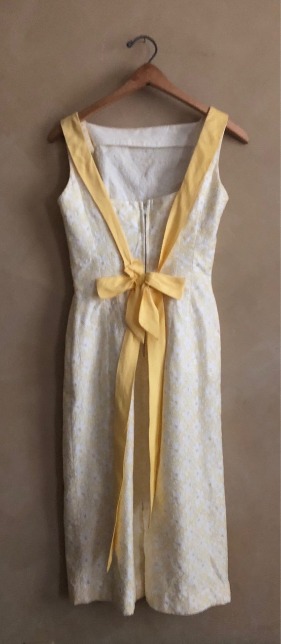 Vintage 50's Dress with Yellow Bow