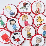 Peanuts Snoopy Cupcake Toppers, Cupcake Flags, Cupcake Toothpick Party Decor, Circus, Lucy, Linus, Woodstock, Peppermint Patty