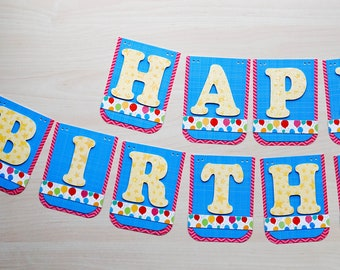 Happy Birthday Banner - Bright and Colorful please choose your favorite!