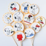 Snoopy Cupcake Toppers, Cupcake Flags, Cupcake Toothpick Party Decor, Peanuts, Joe Cool, Woodstock