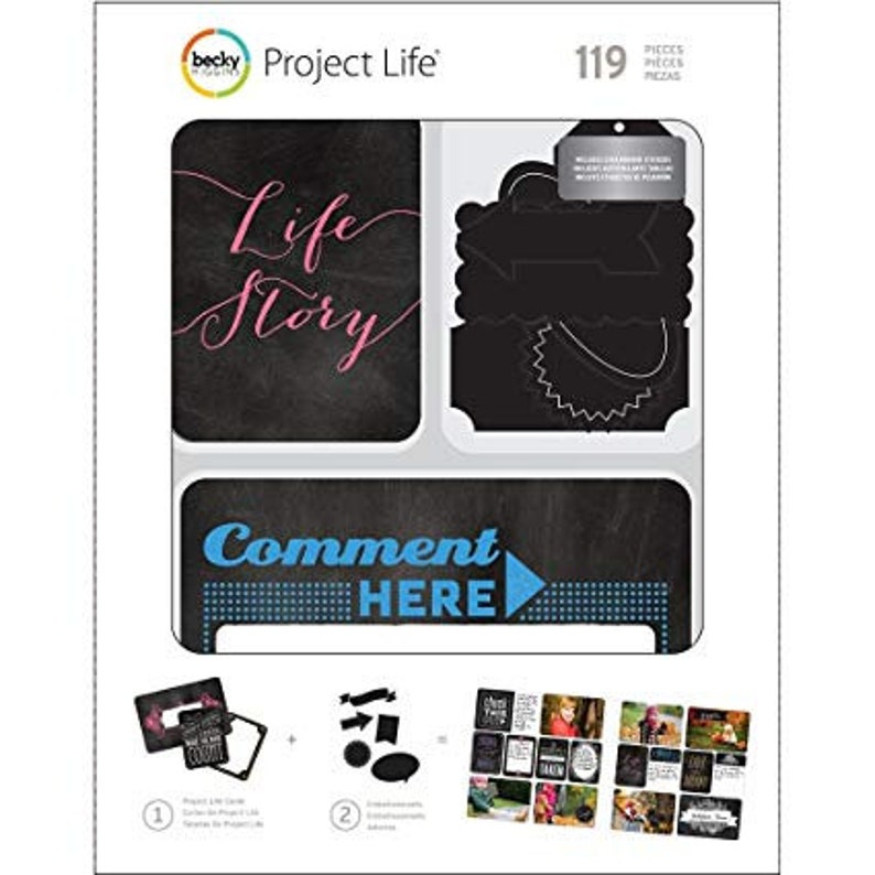 Project Life  Chalkboard Value Kit 180 Cards image 0