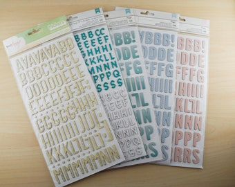 Thickers Alphabet Stickers by American Crafts pick your favorite!