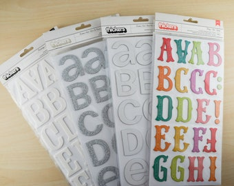 Thickers Alphabet Stickers by American Crafts - Large Letters