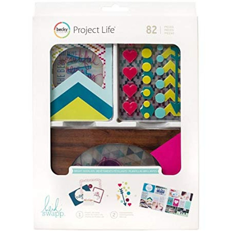 Project Life  Bright Overlays Value Kit82 Cards image 0