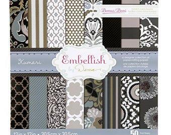 Paper pad Kumaria Embellish by Dena - Cardstock 12 x 12 - 50 sheets