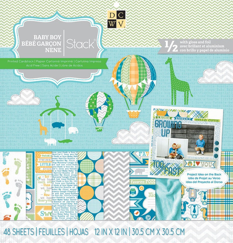 Paper Pad Baby Boy by DCWV Paper Pad 12 x 12 - 48 sheets