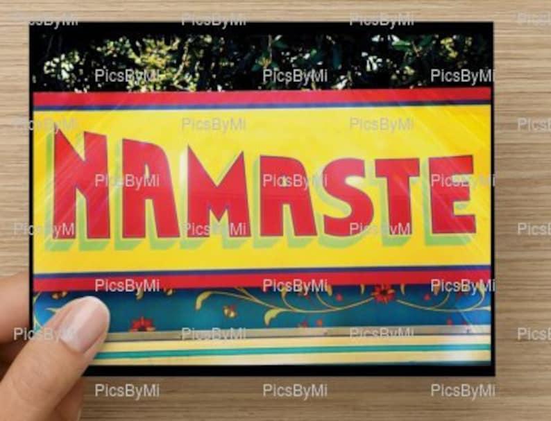 Namaste greeting card Inspirational greeting card image 0