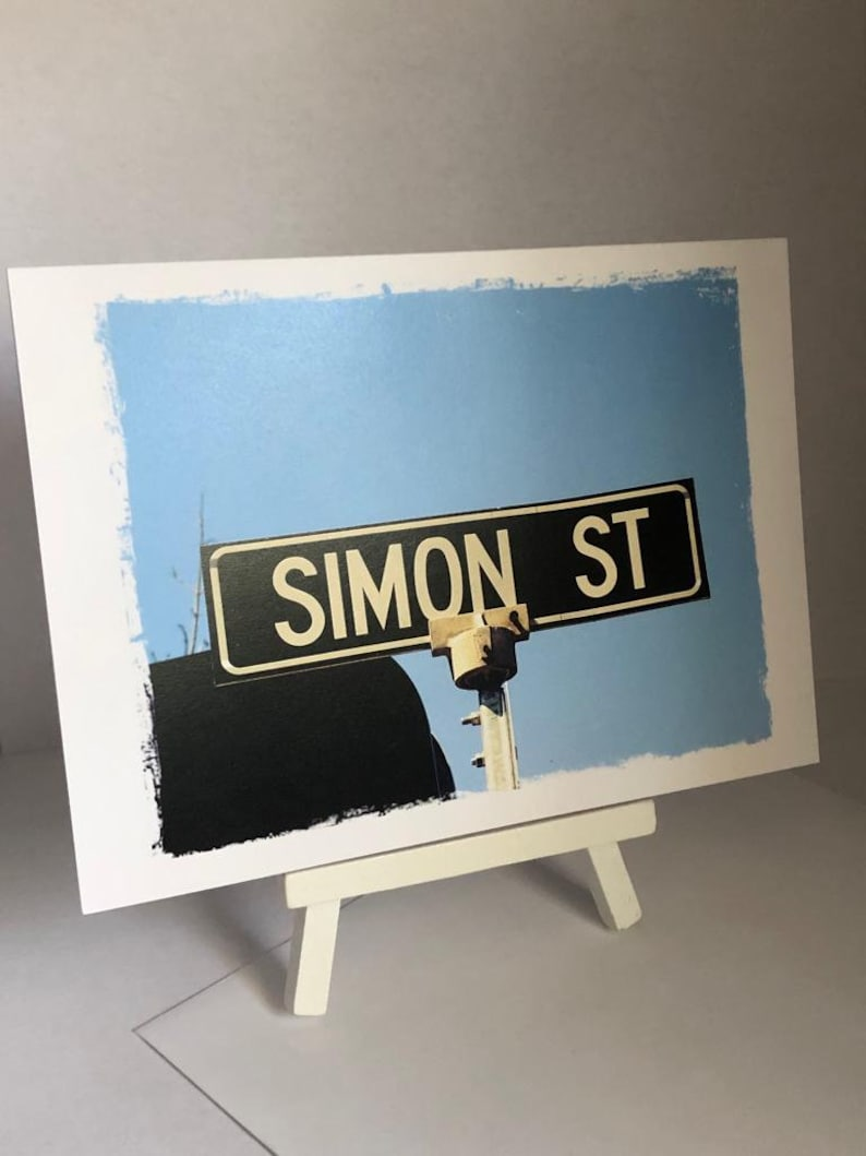 Simon Name cards Cards for him Cards for her Personalised image 0