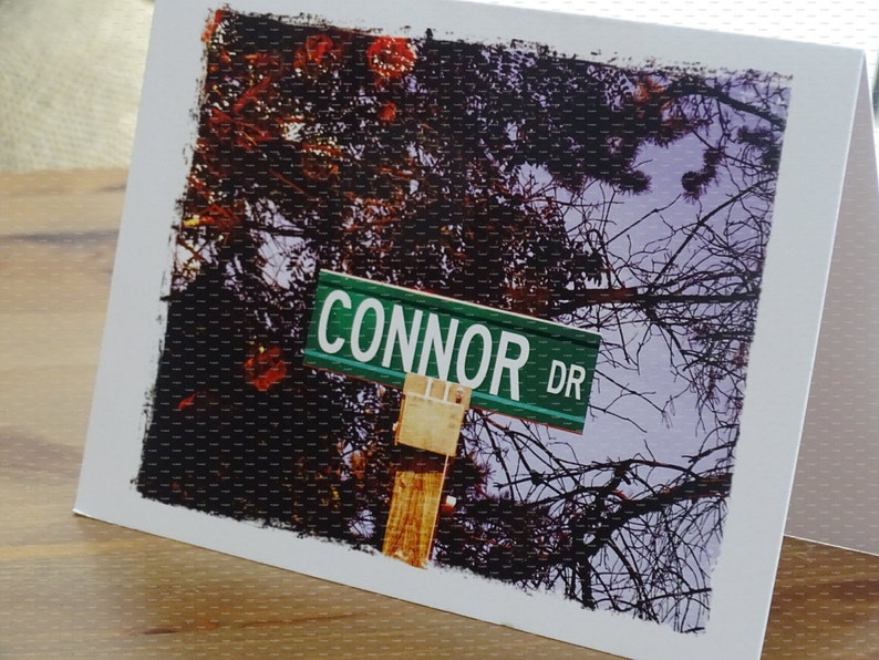 Personalized mens gift Connor Connor personalized cardMale image 0