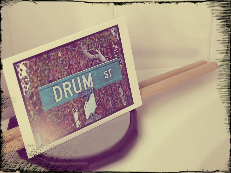 Drum card Music teacher card Music greeting card Jazz band image 0