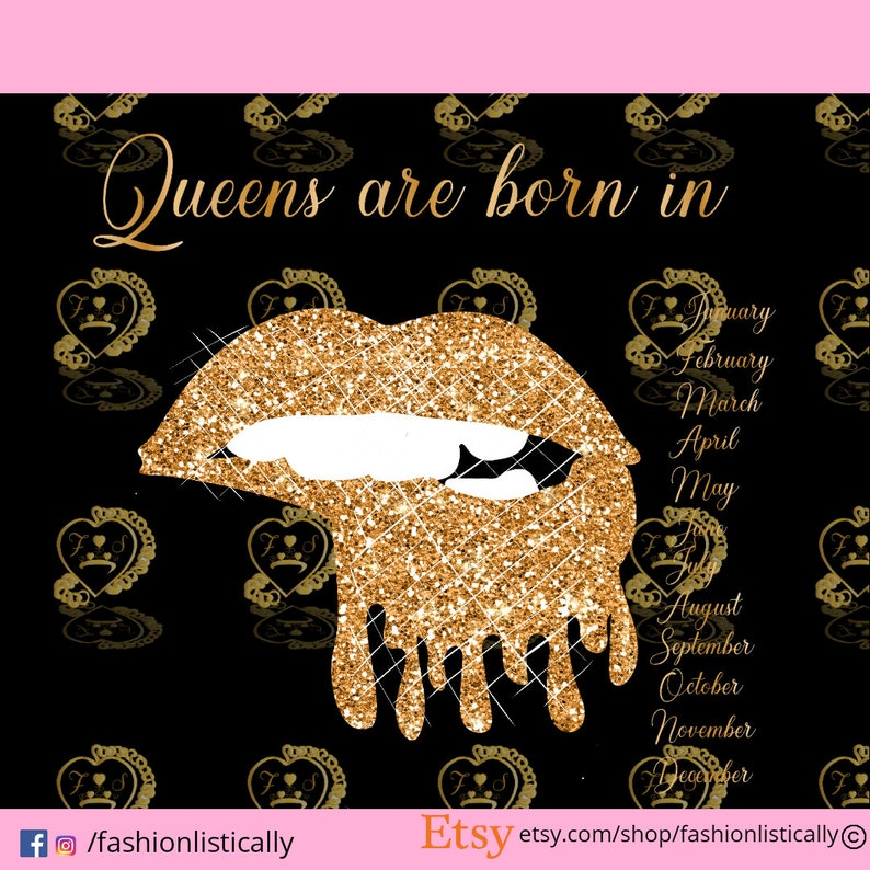Queens Are Born In Svg Bitting Lips Svg Dripping Lips Svg Etsy