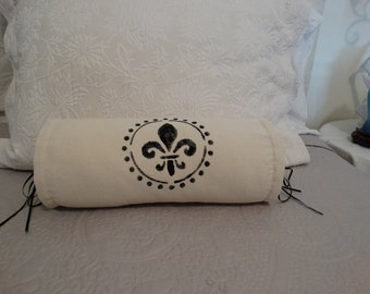 Neck Roll Sham and Form, Home Decor Shabby Chic , French Country