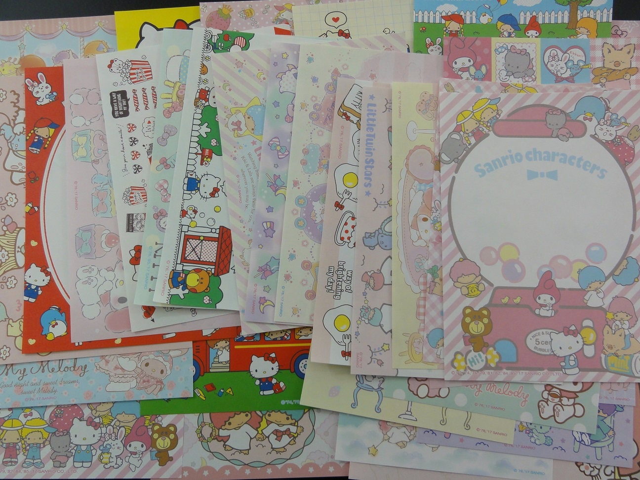 Sanrio Character Diary Sticker Kitty My Melody Tuxedosam Little Tiwn Stars JAPAN