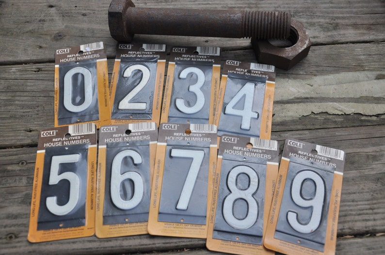Signs Collectibles Numbers 3 And 8 Vintage Metal Sign Numbers Reflective