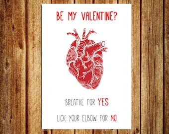 Funny Love Card - Funny Valentine's Day Card - Creepy Love Card - Be My Valentine - Valentine's Day Card - Printable Greeting Card - Digital