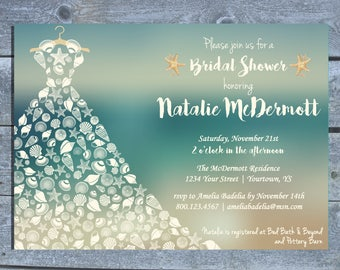 c3cb50b9733bf5 Beach themed Bridal Shower Invitation
