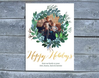Happy Holidays Photo Card | Christmas Card | Christmas Card Printable or Digital | Holiday Photo Cards
