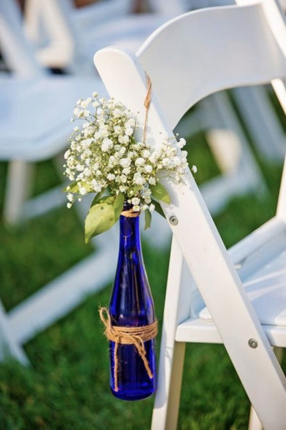 Rustic Wedding Centerpieces Or Walkway Flower Display Cobalt Etsy