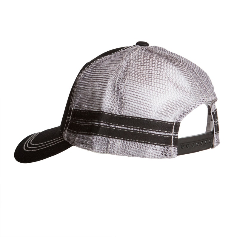 Black//Grey Sportsman Landfill Dzine Layflat Ask me About My Dirty Hose Trucker Hat