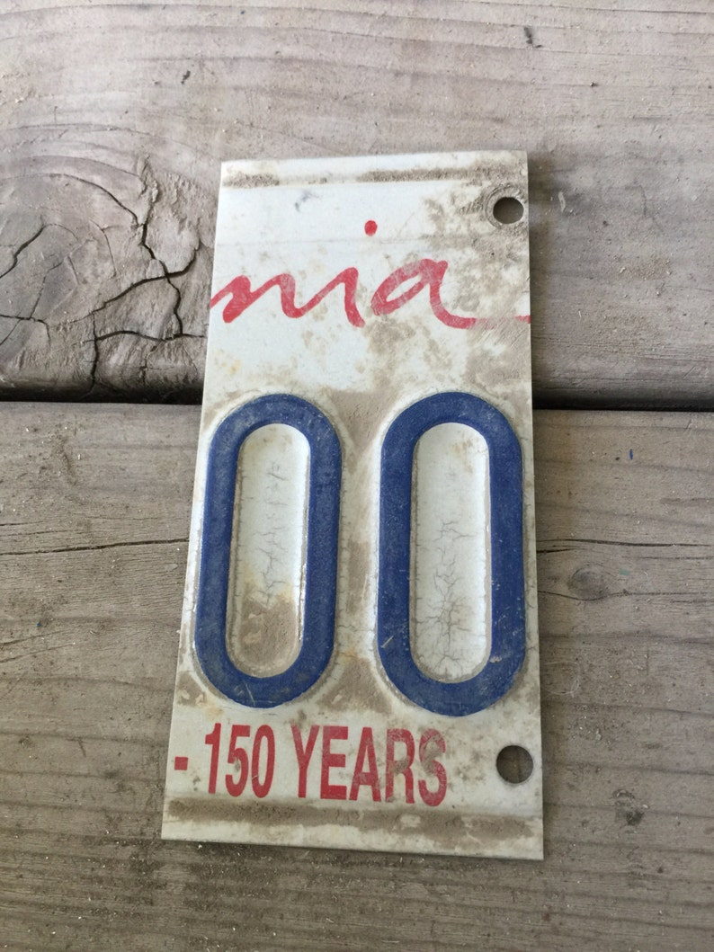 license plate numbers 11 to 50 cut up license plates for craft or art  projects - All California Plates