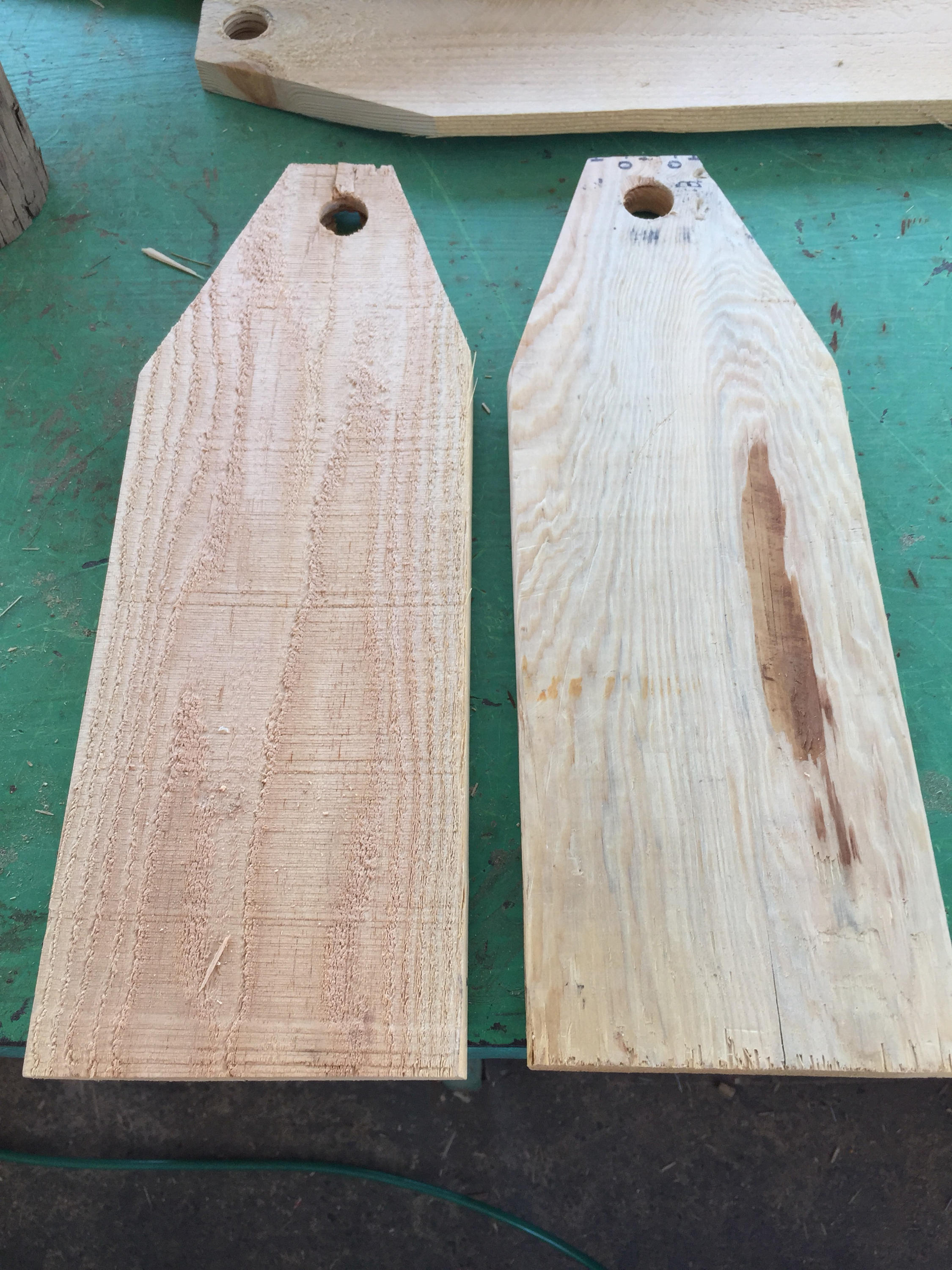 Large Wood Tags Door Hanger Tag • Reclaimed Unfinished - Recycled wood
