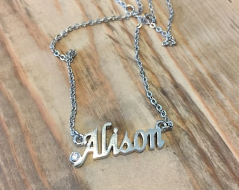 Alison Necklace in Silver Tone or Gold Tone