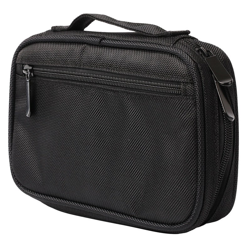 Portable Holds Up to 12 Brushes HSK Mirage Professional Makeup Brush Organizer Bag Black Makeup Brush Holder